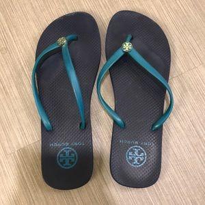 Tory Burch blue flip flops 7